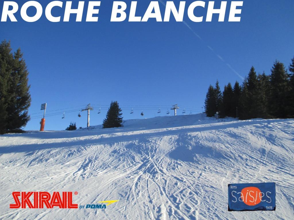Télésiège fixe quatre places (TSF4) de Roche Blanche - Les Saisies (Espace Diamant) Banniz20