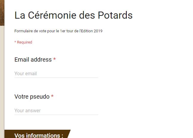 [Besoin de vos votes] J'ai été sélectionné pour la cérémonie des Potards Potard10