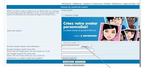 """Aide pour poster votre photo sur """"profil"""" C10"""