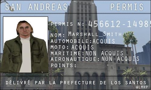 Candidature SMITH Marshall Permis10