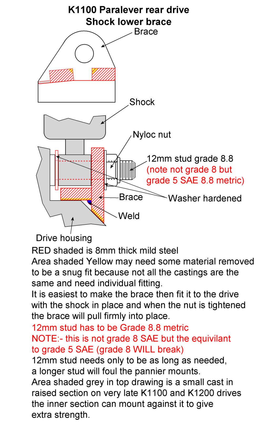 Shock Absorber lower brace K1100 Shock_10
