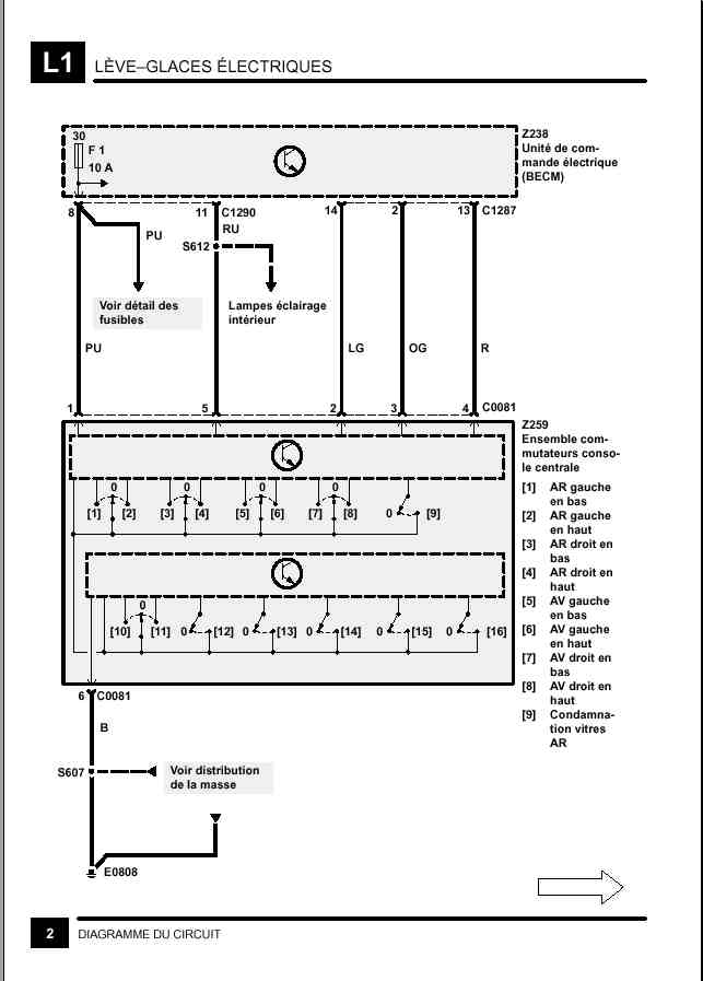 Mode séquentiel vitre passager Leve_v10