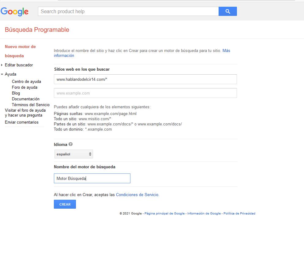 Añadir un concepto de búsqueda en los post's Crear_11