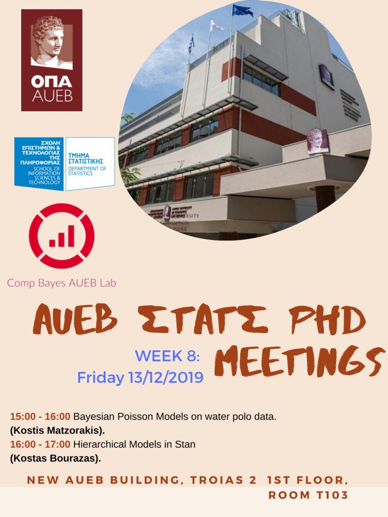 AUEB Stats PhD Seminars 2019: Week 8 79036610