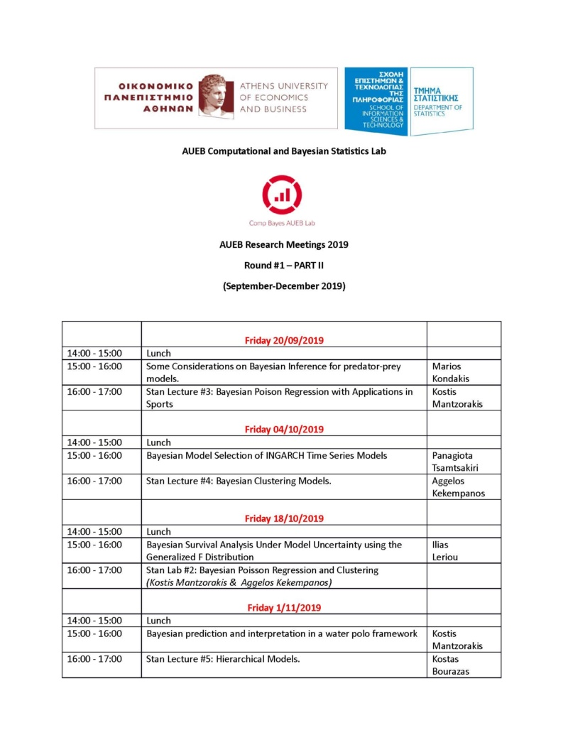 AUEB Stats PhD Seminars 2019 Part B: Updated Schedule for September-December 2019 Final_11