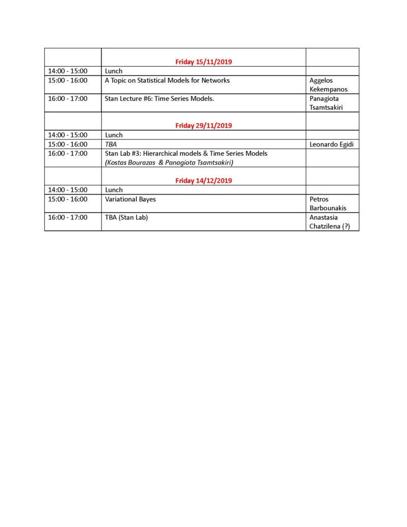 AUEB Stats PhD Seminars 2019 Part B: Updated Schedule for September-December 2019 Final_12
