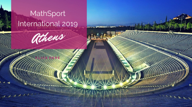 Mathsport  International 2019 Conference, 1-3 July, Athens, Greece Mathsp10