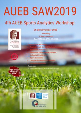 4th AUEB Sports Analytics Workshop (AUEB SAW2019)  Saw20114