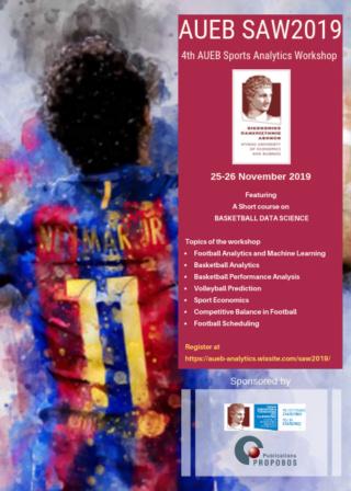 4th AUEB Sports Analytics Workshop (AUEB SAW2019)  Saw20116