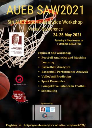 AUEB Sports Analytics Workshop 2021 (SAW2021) Saw20212