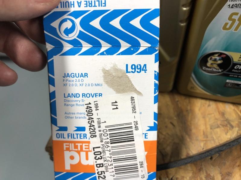 Cambio aceite, filtro aceite y filtro aire. Ingenium TD4 2,0 4x4 MY2016 Jtaabu10