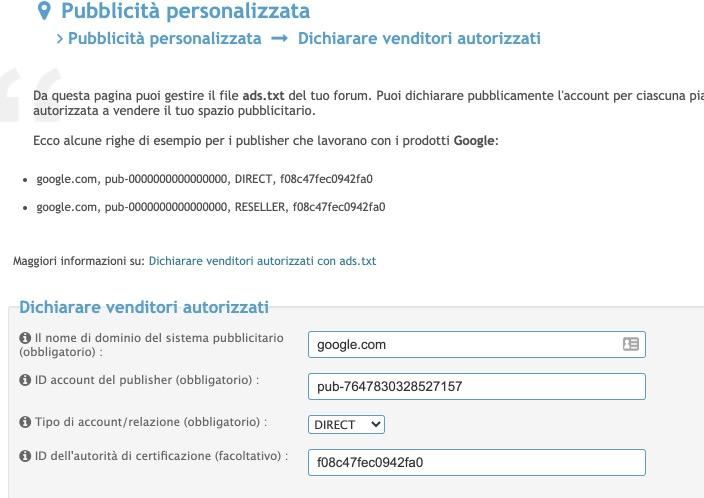File ads.txt - errore su google adsense e click non conteggiati 0111