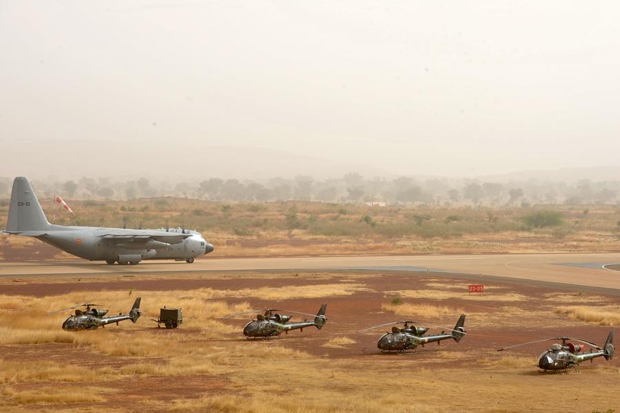 Le C-130 belge de la MINUSMA en appui temporaire à Barkhane 00213310