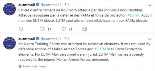Attaque du centre d'instruction de l'EUTM au Mali 12612010