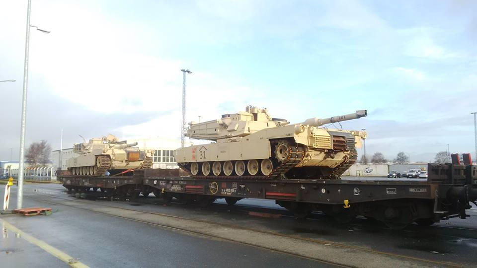 Acheminements de la 1 ArBde US pour Atlantic Resolve 18620112