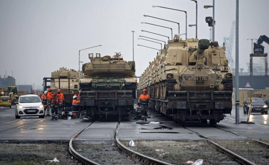 Acheminements de la 1 ArBde US pour Atlantic Resolve 18620113