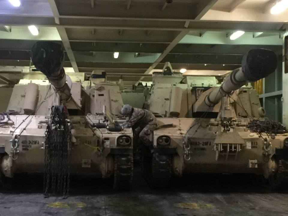 Acheminements de la 1 ArBde US pour Atlantic Resolve 18620314