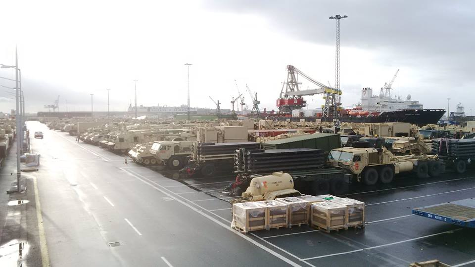 Acheminements de la 1 ArBde US pour Atlantic Resolve 18664110