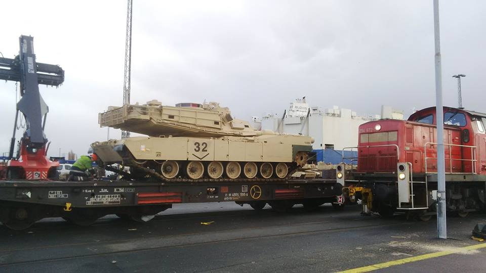 Acheminements de la 1 ArBde US pour Atlantic Resolve 18740411