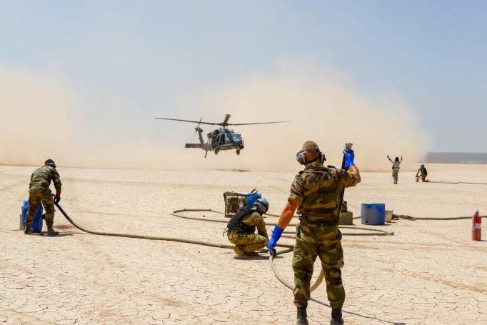L'ensemble TOE –NG déployé sur la BAP de Niamey 2015-010