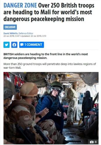 Déploiment de 250 casques bleus britanniques au Mali 23283110