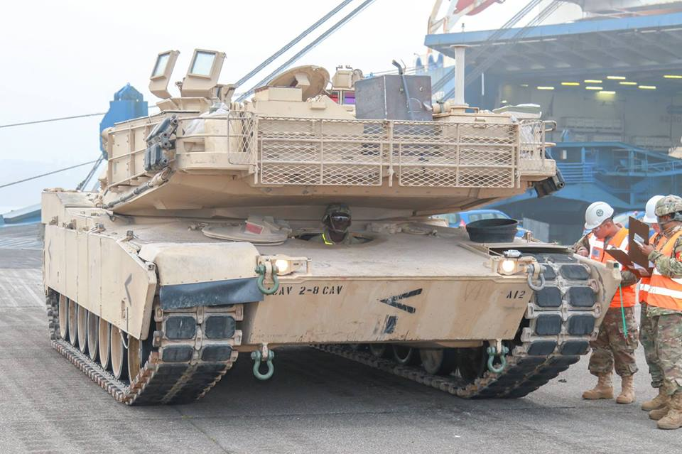 Acheminements de la 1 ArBde US pour Atlantic Resolve 36980910