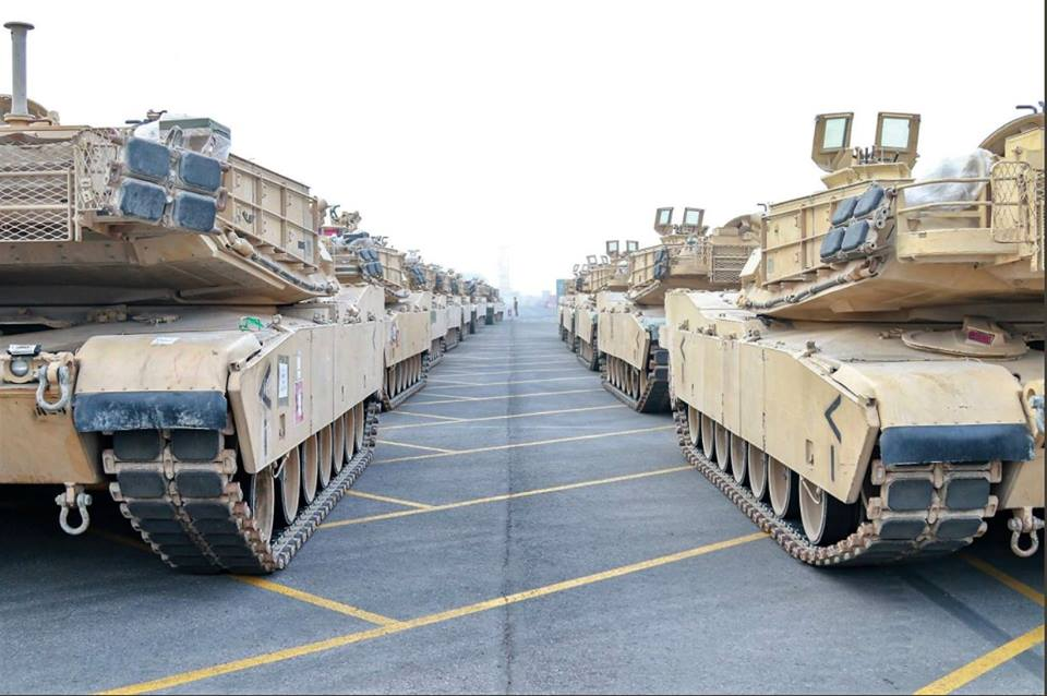 Acheminements de la 1 ArBde US pour Atlantic Resolve 37011710