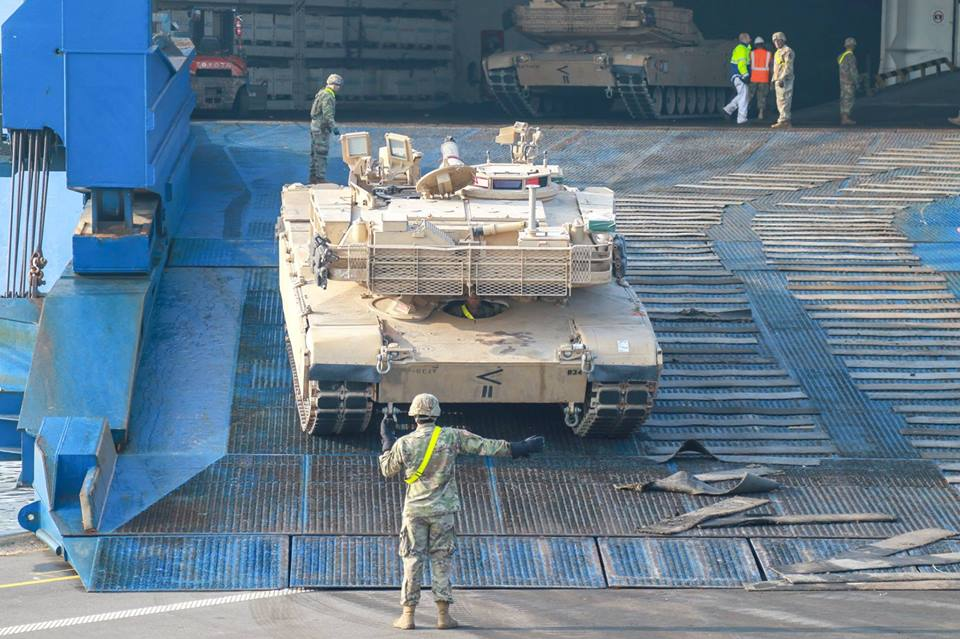 Acheminements de la 1 ArBde US pour Atlantic Resolve 37014710