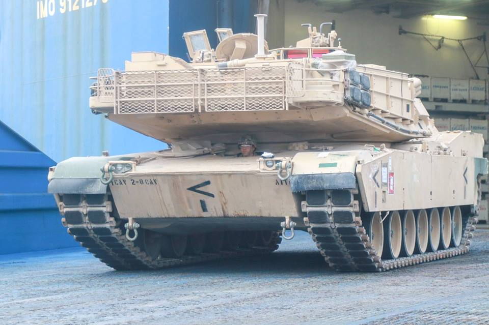 Acheminements de la 1 ArBde US pour Atlantic Resolve 37061110