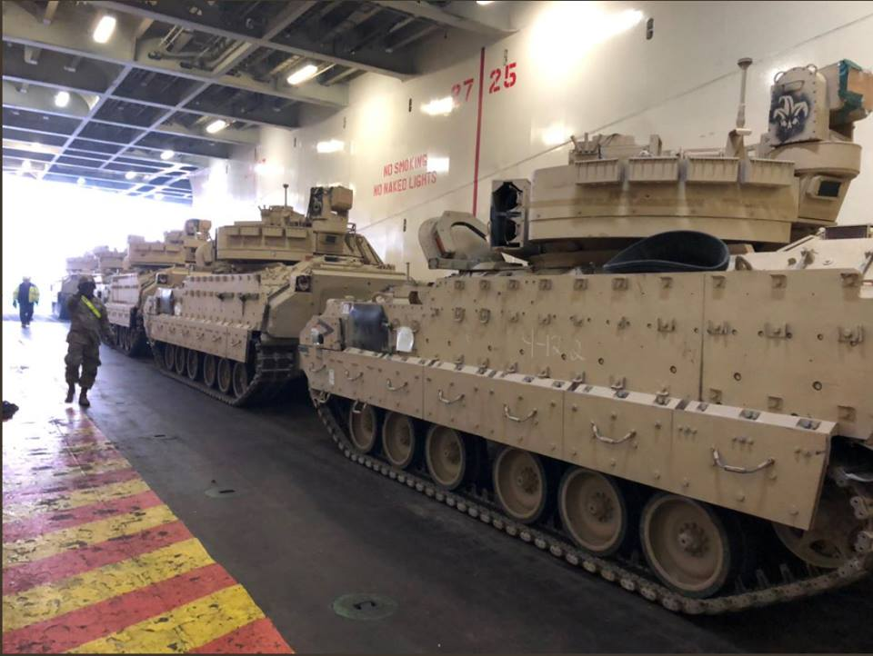 Acheminements de la 1 ArBde US pour Atlantic Resolve 37075411