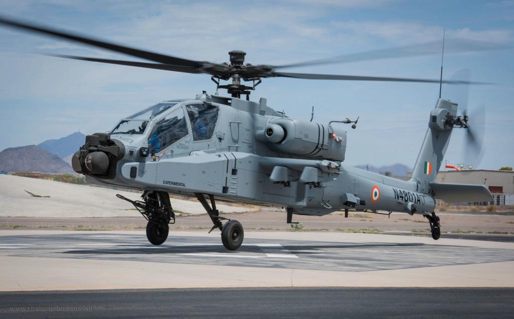 Premier vol de l'Apache et du Chinook indiens Ah-64e10