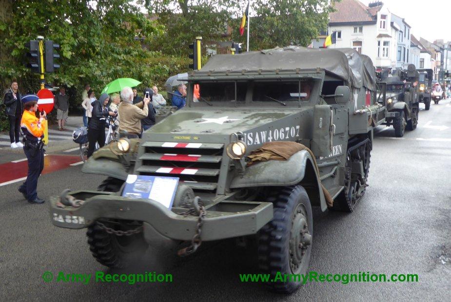 Le convoi belge de l'anniversaire de la libération Belgiu20