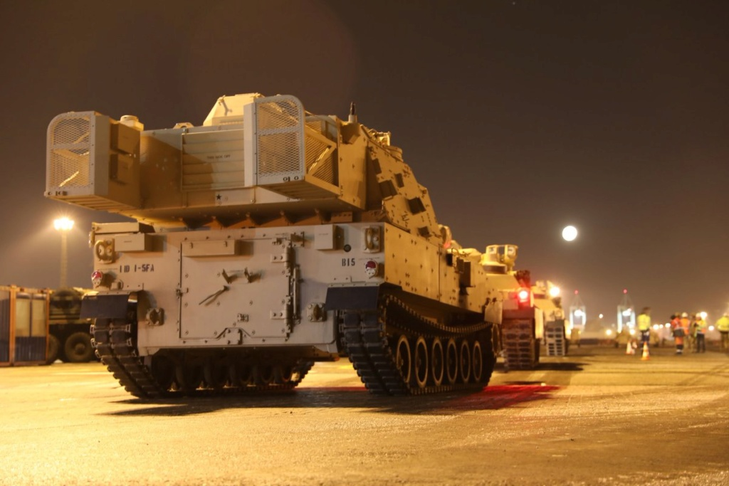 Acheminements de la 1 ArBde US pour Atlantic Resolve Dxxkll10