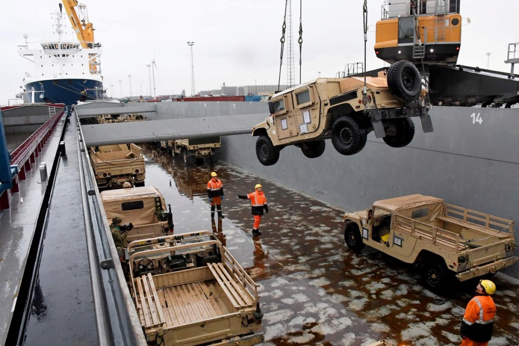 Acheminements de la 1 ArBde US pour Atlantic Resolve Dybplo10