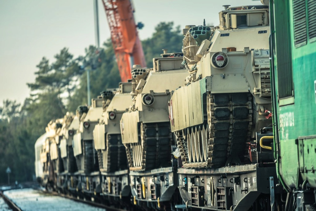Acheminements de la 1 ArBde US pour Atlantic Resolve Dywic010