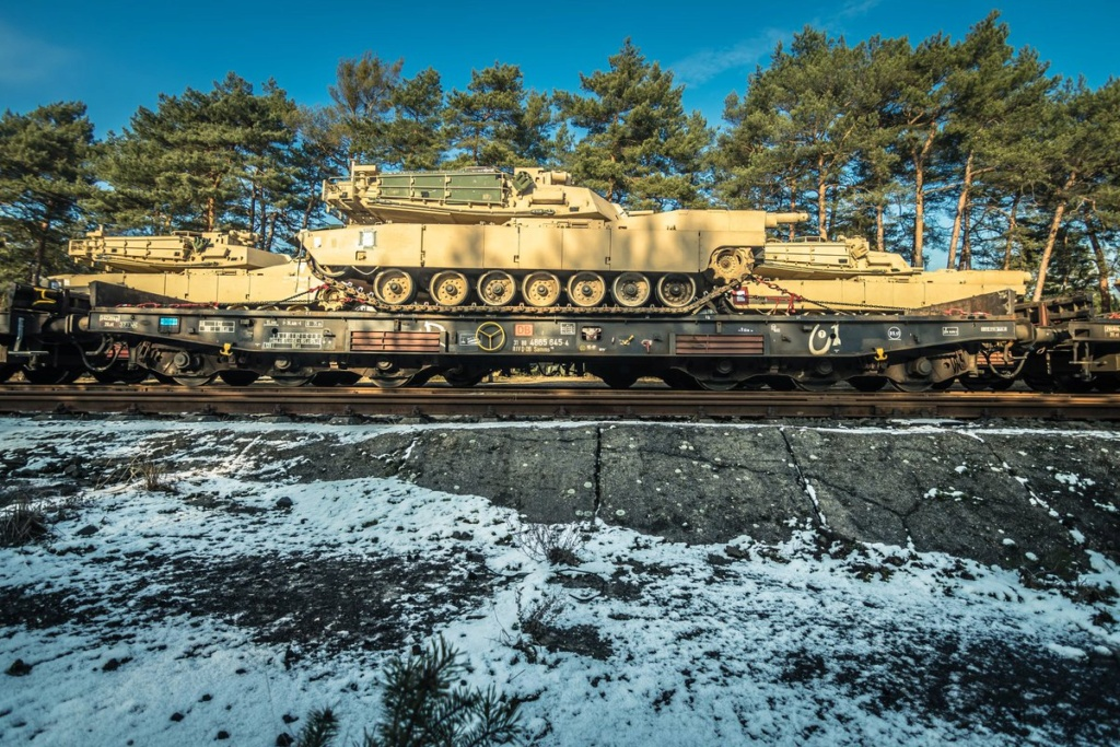 Acheminements de la 1 ArBde US pour Atlantic Resolve Dywiod10