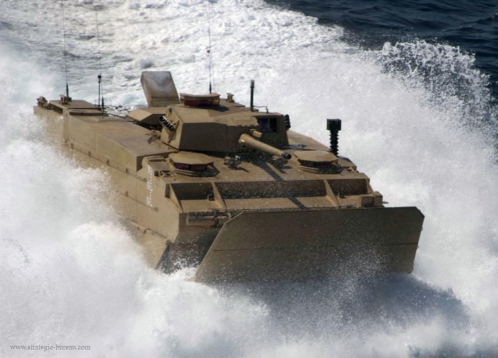 Projet de véhicule blindé de combat d'infanterie amphibie US Efv_vb12