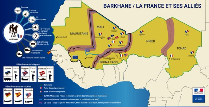 Carte du déploiement européen au Sahel Emkkyk10