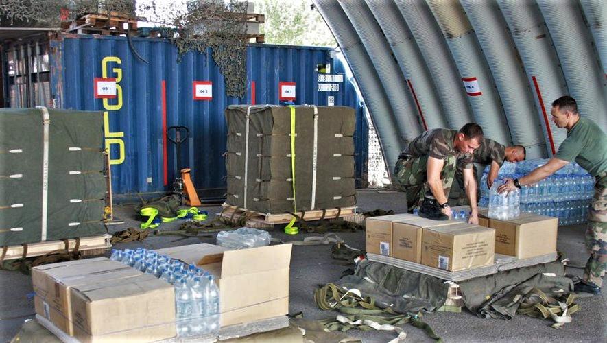 Une livraison par air essentielle pour l'opération Aconit Image15