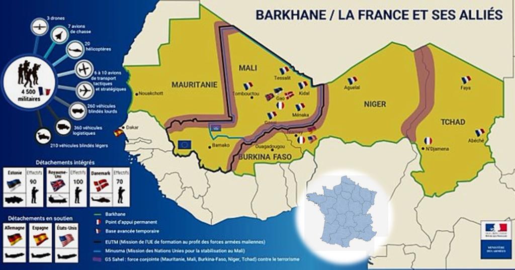 Carte du déploiement européen au Sahel Image263