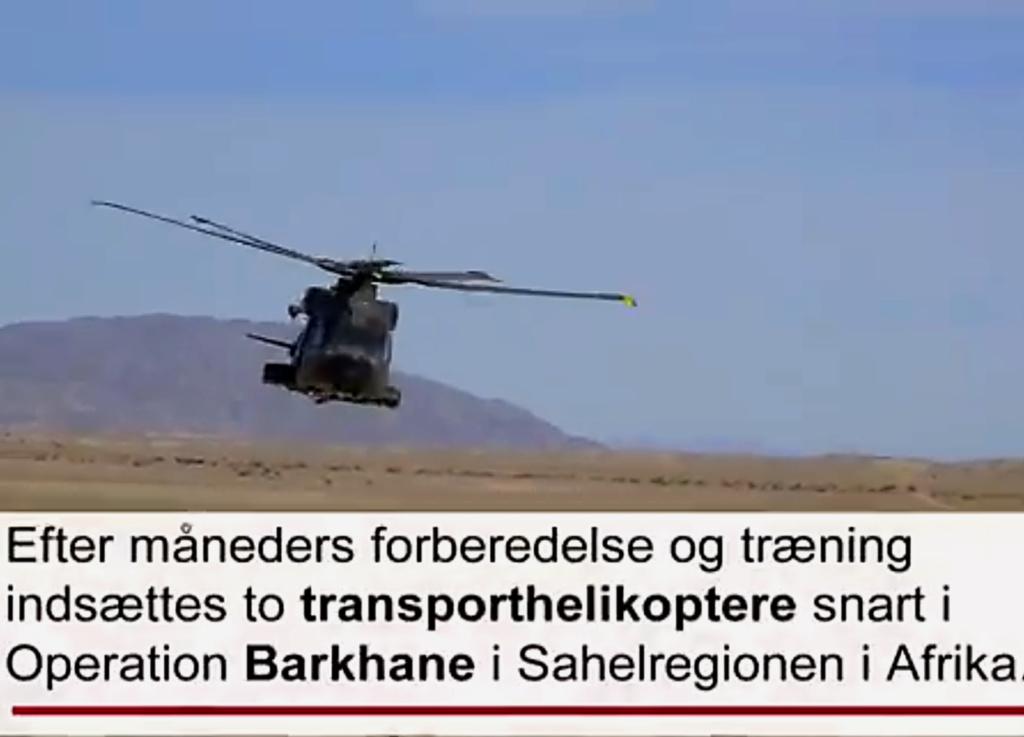 En décembre 2 hélicoptères lourds danois pour Barkhane Image264
