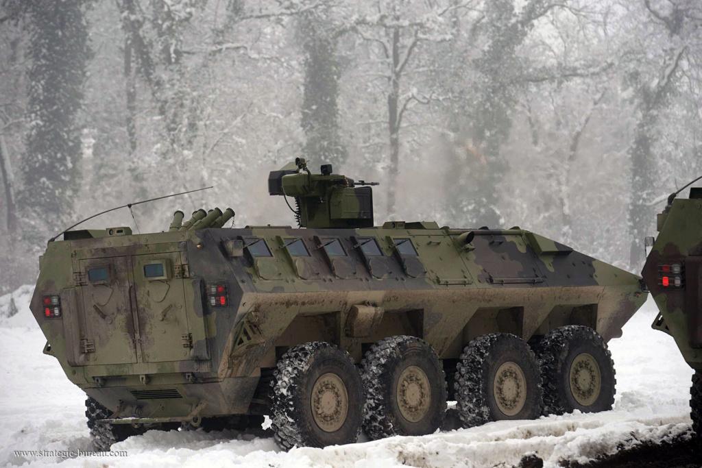 Livraison des premiers 8×8 Lazar-3 pour l'armée serbe Lazar-16