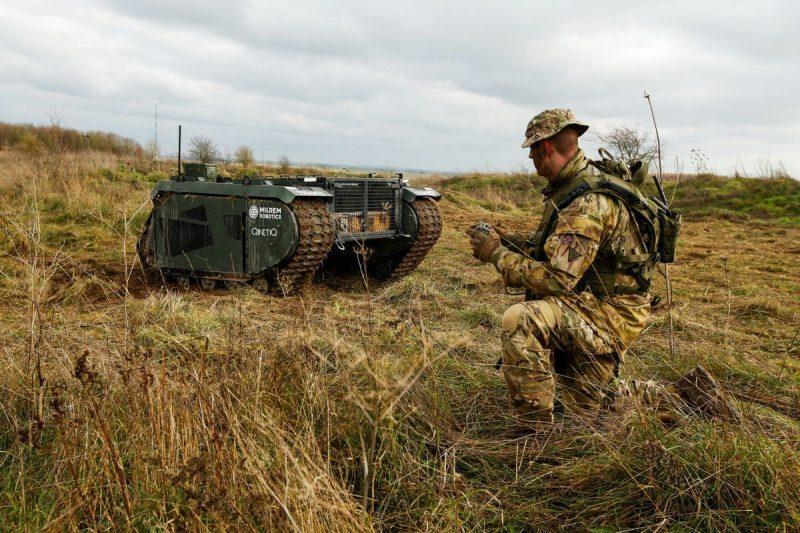 Un projet européen de robot militaire terrestre  Milrem10
