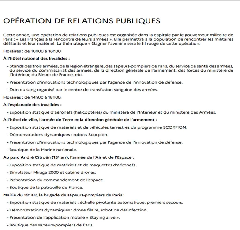 Défilés 14 juillet 2021, Paris - nombreux replays Progra10