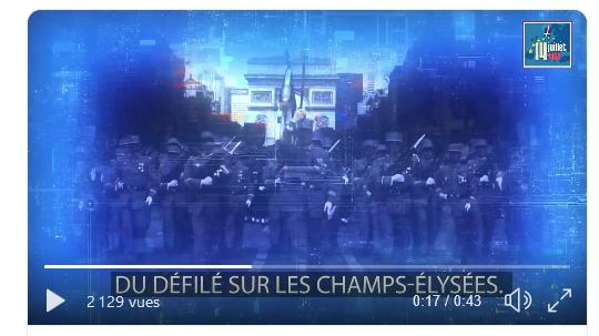 Défilés militaires du 14 juillet 2019 à Paris et les replays Scree145