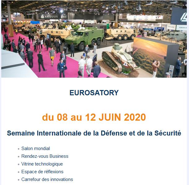 [Annulé] Eurosatory 2020, du 08 au 12 juin ! !  Scree175
