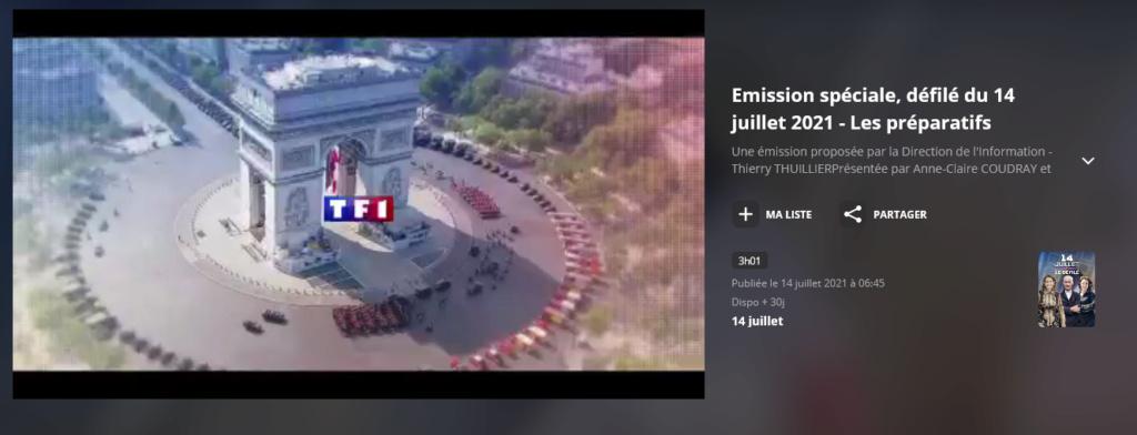 Défilés 14 juillet 2021, Paris - nombreux replays Scree359