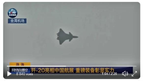 Le Chengdu J-20 chinois encore avec un moteur... russe Screen36