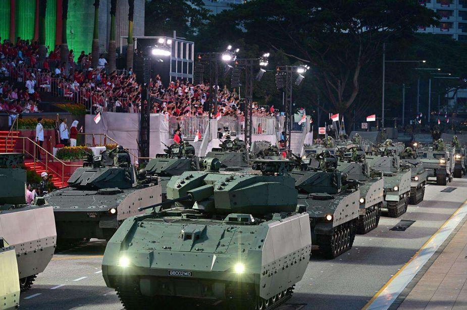 Singapour présente le véhicule de combat blindé Hunter Singap10