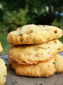 Cookies salés aux pistaches, thym & chèvre Cookie10